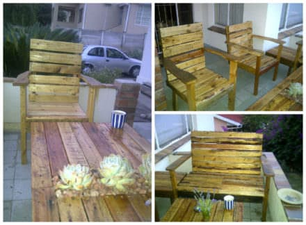 Patio Set From Repurposed Pallets