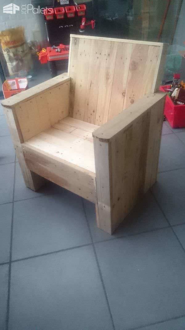 Reclaimed Pallet Armchair Pallet Benches, Pallet Chairs & Stools