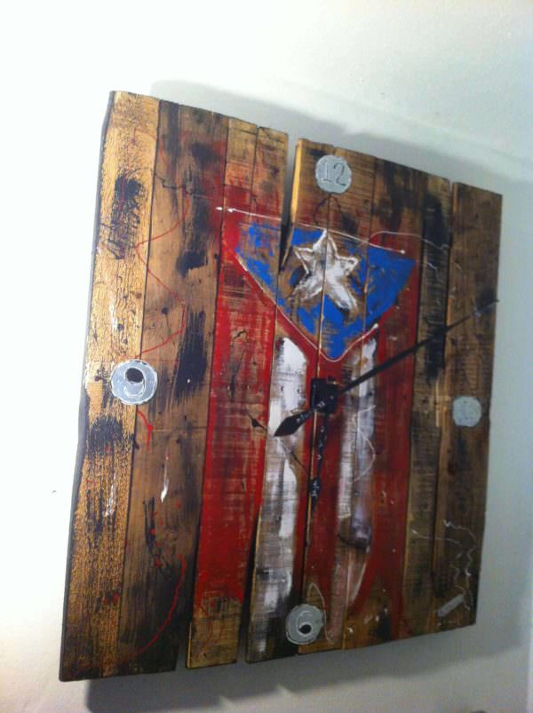 Relog De Pared / Pallet Wall Clock Pallet Clocks