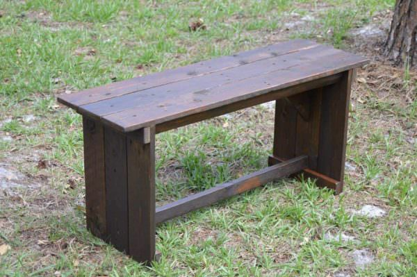Rustic Benches From Reclaimed Pallets Pallet Benches, Pallet Chairs & Stools