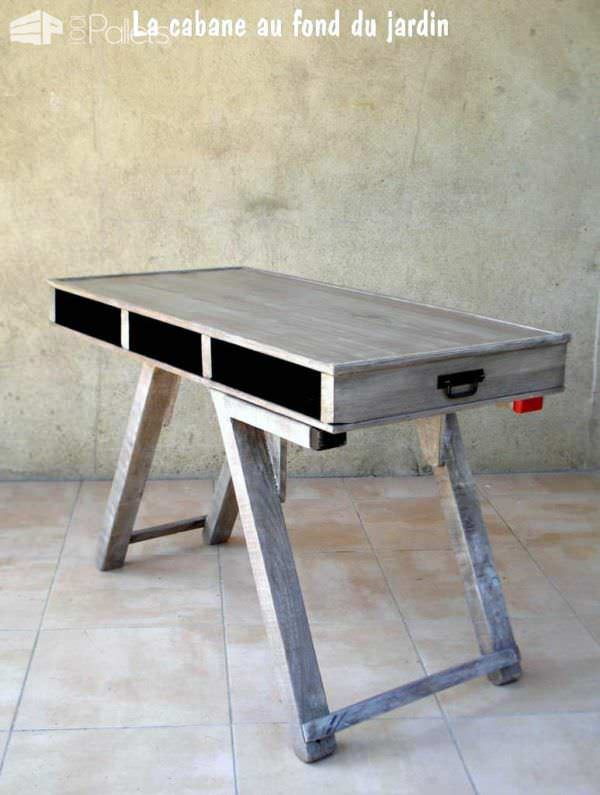 Table Basse Et Haute 2by1 En Bois De Palettes / Modular Pallet Coffee Table Pallet Desks & Pallet Tables