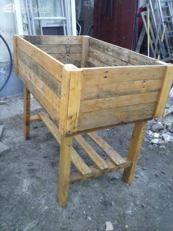 Table Potagère En Palette / Pallet Vegetable Table Pallet Planters & Pallet Compost