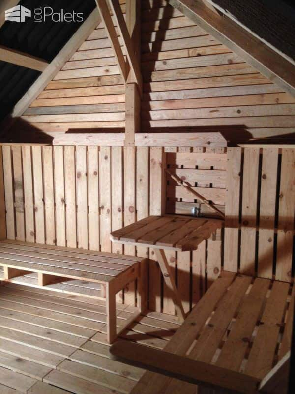 Teenager Cabin Made From 19 Wooden Pallets Fun Pallet Crafts for Kids Pallet Sheds, Pallet Cabins, Pallet Huts & Pallet Playhouses
