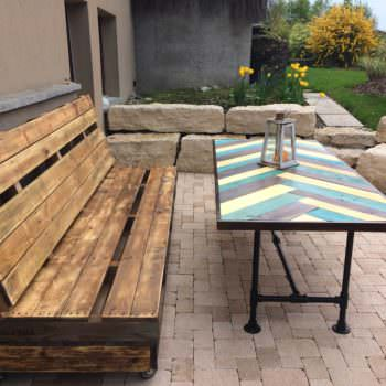 Terrace Pallet Bench & Table
