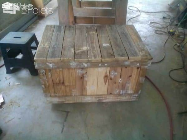 Toy Chest From Repurposed Pallets Pallet Boxes & Chests