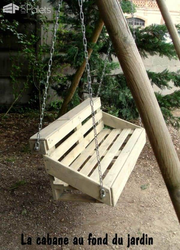Une Balancelle Faite Avec Une Palette / Upcycled Pallet Swing Fun Pallet Crafts for Kids Lounges & Garden Sets