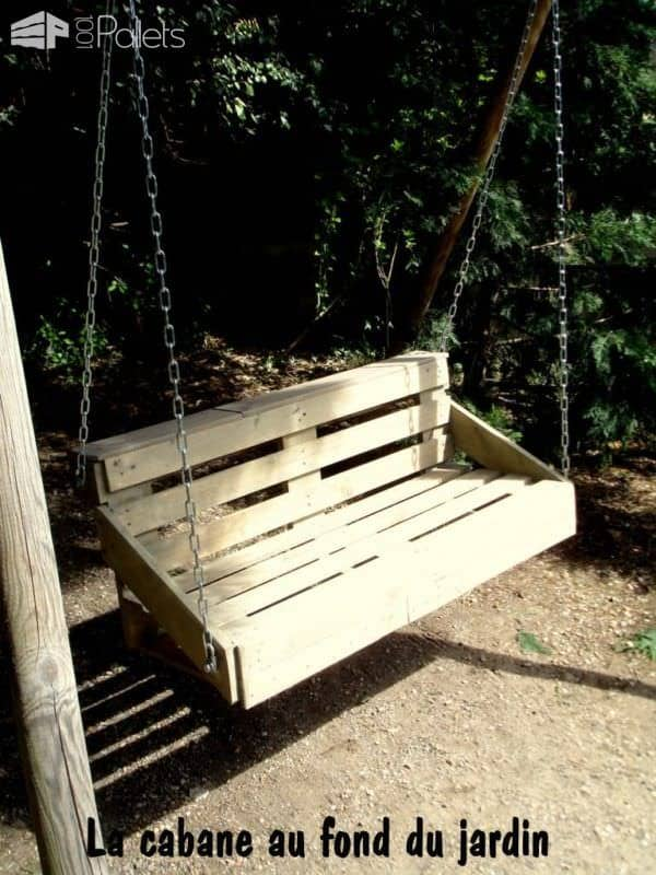 Une Balancelle Faite Avec Une Palette / Upcycled Pallet Swing Fun Pallet Crafts for KidsLounges & Garden Sets
