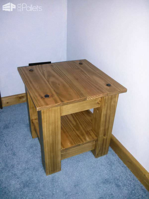 Upcycled Pallet Bed Side Table Pallet Desks & Pallet Tables