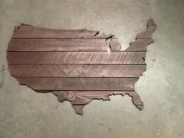 Usa Pallet Map Pallet Wall Decor & Pallet Painting
