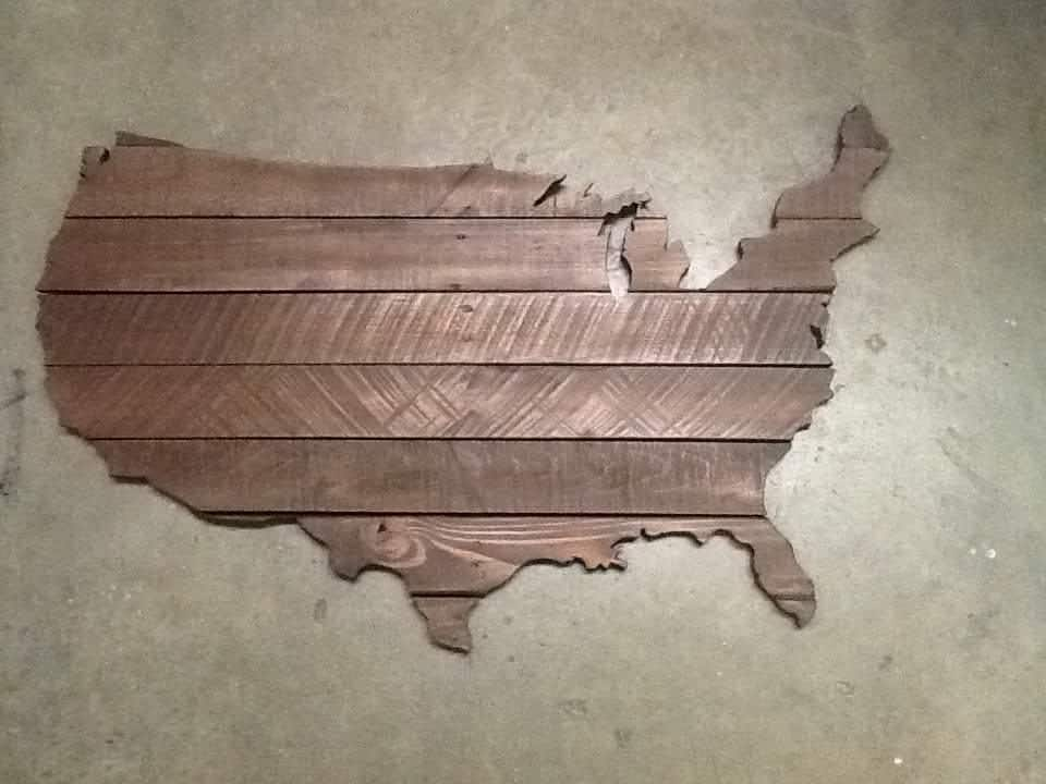 Usa Pallet Map Pallets - How to do us map on pallet