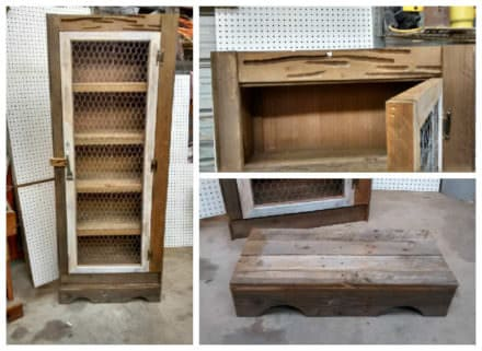 Weathered Pallet Wood Jelly Cabinet