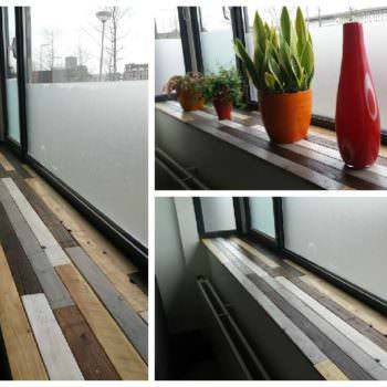 Windowsill Made Of Recycled Pallets