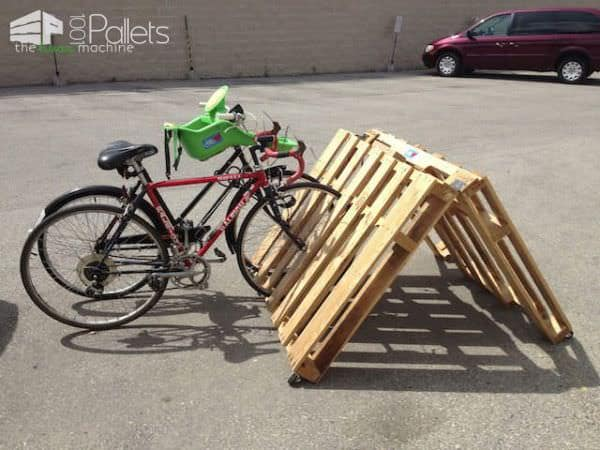 Wooden Pallets as Bike Racks2