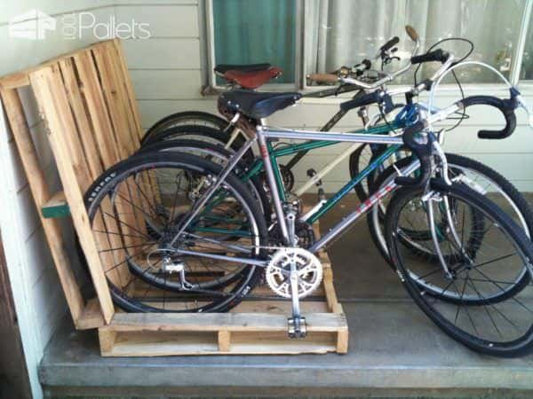 Wooden Pallets as Bike Racks1