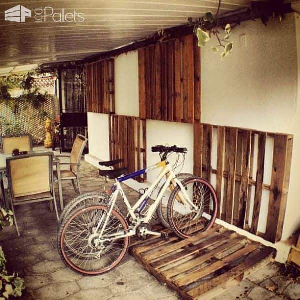 Wooden Pallets as Bike Racks7