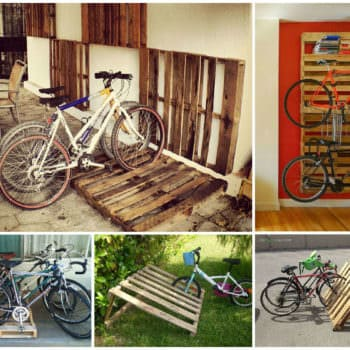 14 Ways of Reusing Old Wooden Pallets as Bike Racks