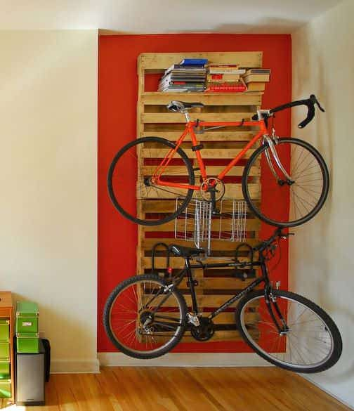 Wooden Pallets as Bike Racks12