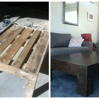 Antique Looking Pallet Coffee Table