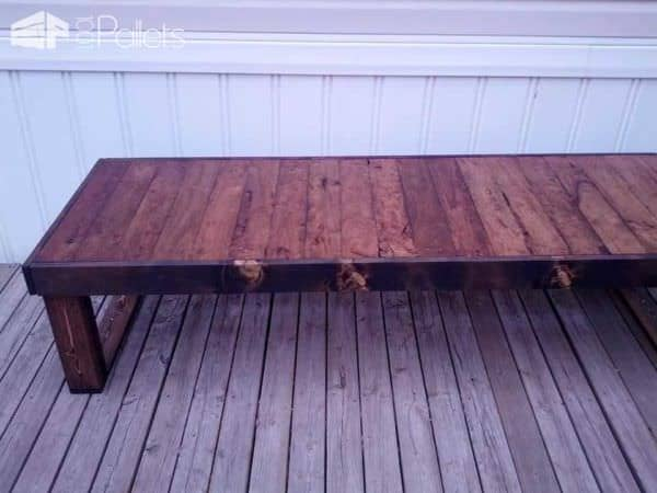 Back Deck Pallet Coffee Table Pallet Coffee Tables