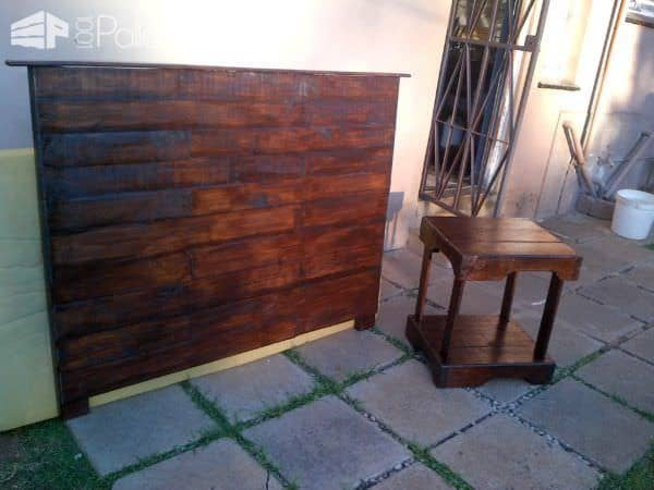 Bedroom Pallet Headboard & Side Table Pallet Beds, Pallet Headboards & Frames