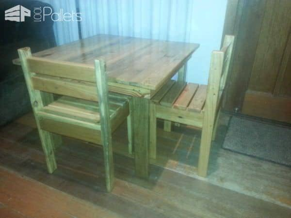 Children's Table & Chairs Pallet Benches, Pallet Chairs & Stools Pallet Desks & Pallet Tables