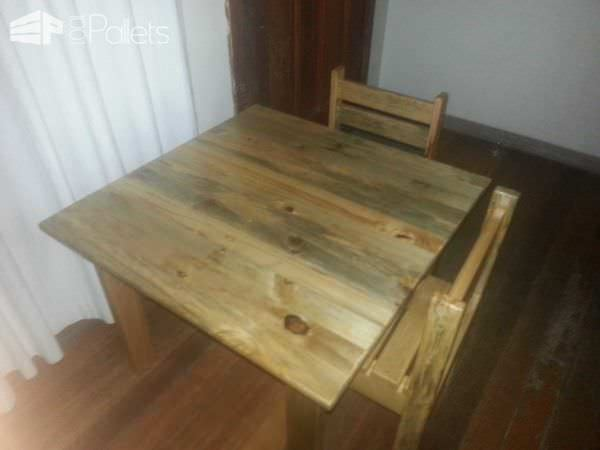 Children's Table & Chairs Fun Pallet Crafts for Kids Pallet Benches, Pallet Chairs & Stools Pallet Desks & Pallet Tables