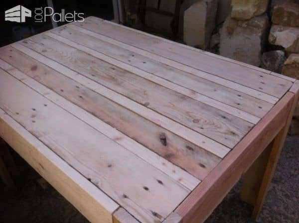 Just a Simple Pallet Table Pallet Desks & Pallet Tables