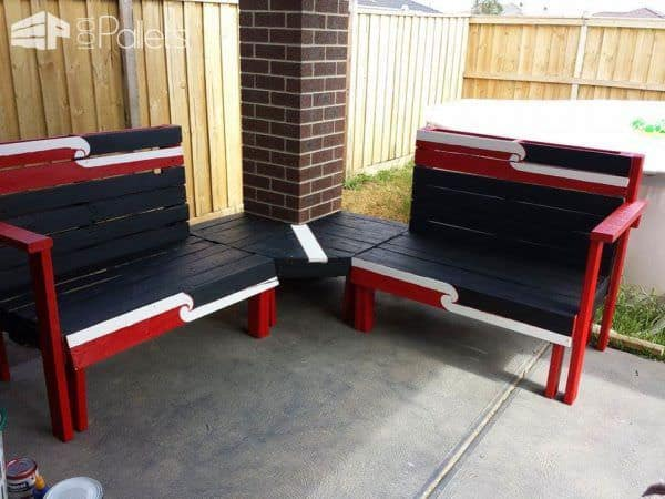 Kiwiana Outdoor Pallet Furniture Pallet Benches, Pallet Chairs & Stools