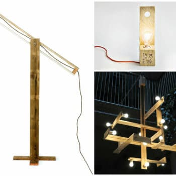 Minimalistic Pallet Wood Lamps by Studiomama