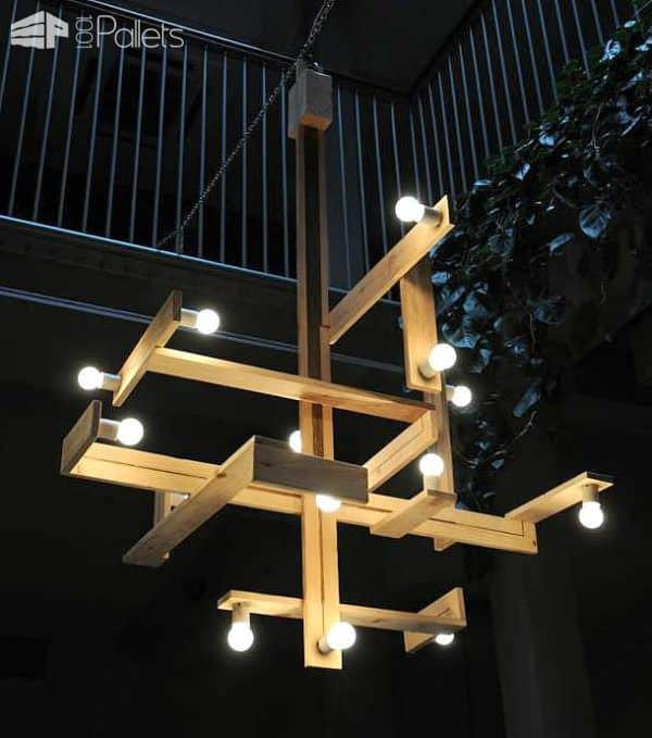 Minimalistic Pallet Wood Lamps by Studiomama Pallet Lamps, Pallet Lights & Pallet Lighting