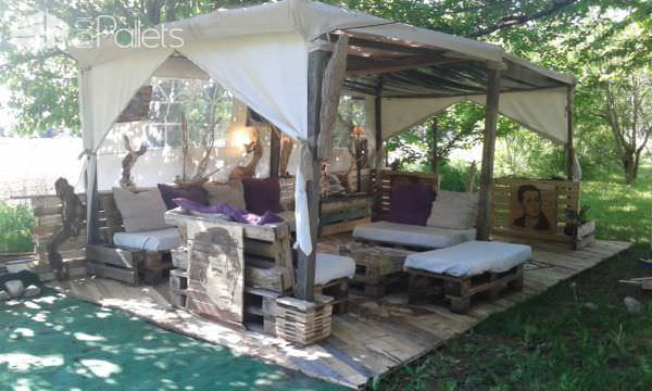 Mon Salon Stars Palette / My Outdoor Pallet Lounge Corner Lounges & Garden Sets Pallet Terraces & Pallet Patios