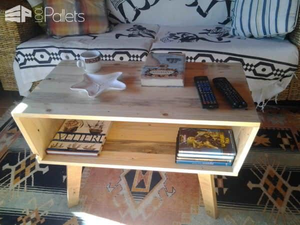 Pallet Coffee Table - 70's Design Pallet Coffee Tables