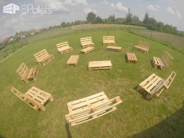 Pallet Creation Fotoshooting Pallet Benches, Pallet Chairs & Pallet Stools