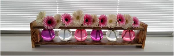 Pallet Flower Vase Standard Pallet Home Accessories