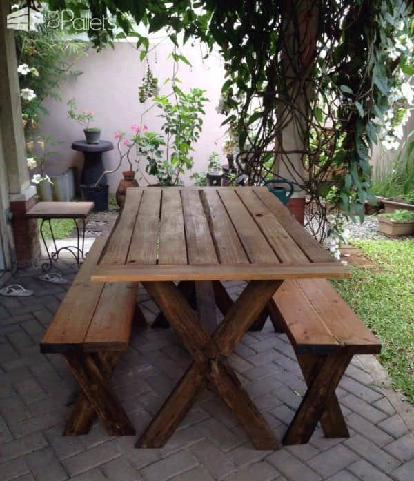 Pallet Garden Projects: Table, Bench & Planters Lounges & Garden Sets Pallet Planters & Pallet Compost