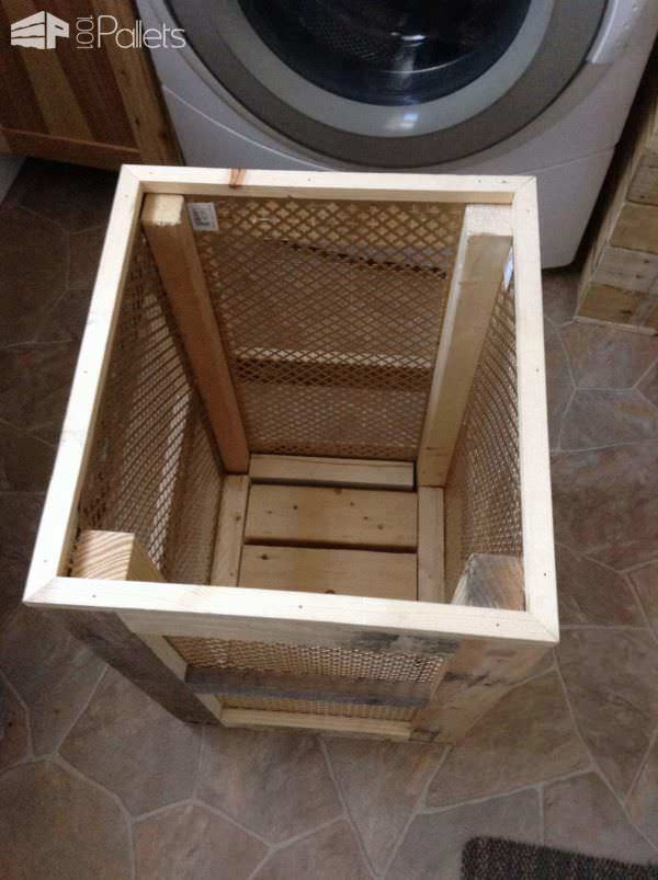 Pallet Laundry Hamper Pallet Boxes & Chests