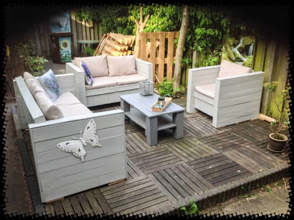 Pallet Outdoor Garden Set Lounges & Garden Sets Pallet Sofas & Couches