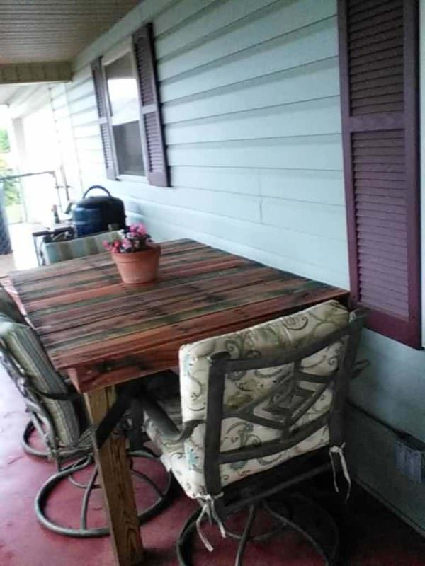 Pallet Porch Table Pallet Desks & Pallet Tables