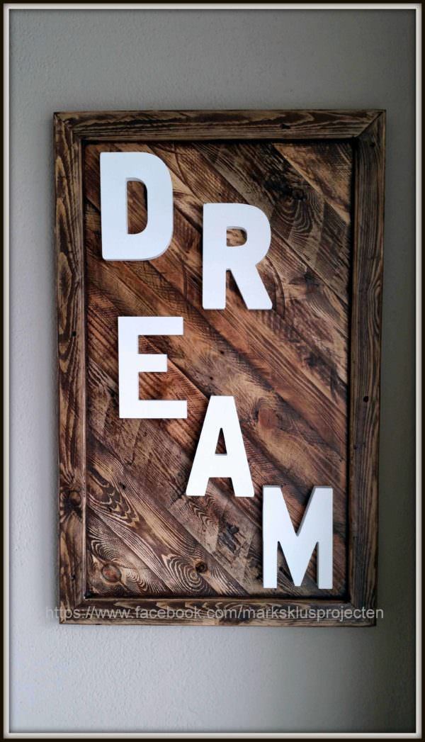 Rustic Picture Frame Pallet Wall Decor & Pallet Painting