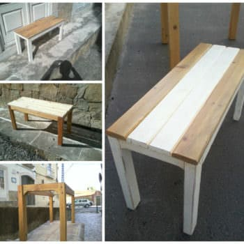 Small Pallet Bench