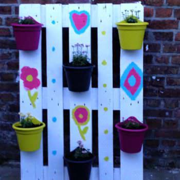 Small Plant Wall From One Upcycled Pallet