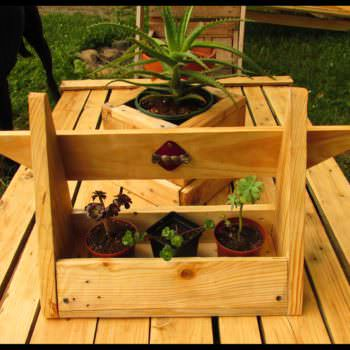 Small Succulent Planters Made Out Of Pallet Wood