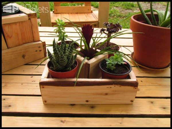Small Succulent Planters Made Out Of Pallet Wood Pallet Planters & Compost Bins
