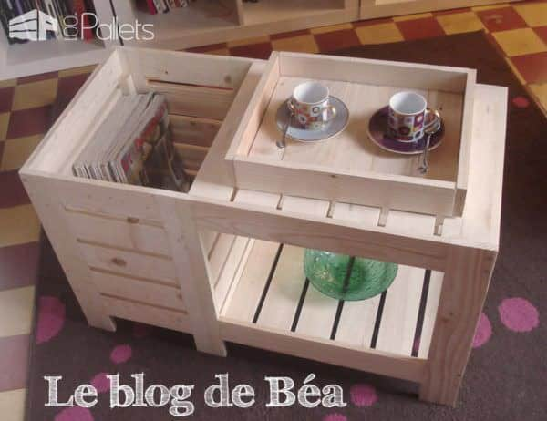 Special coffee table with box table basse avec coffre de - Table basse rangement bouteilles ...