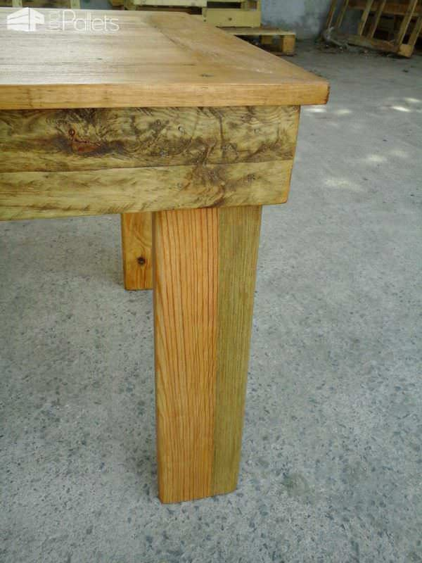 Table basse en bois de palette pallet coffee table - Faire table basse en palette ...