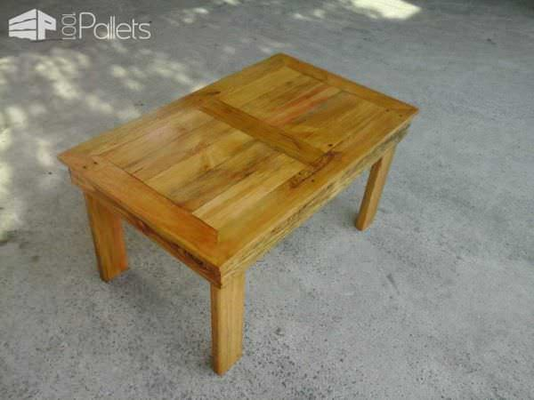 Table basse en bois de palette pallet coffee table - Table basse en palette de bois ...