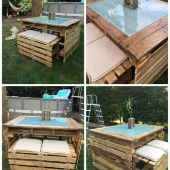 Lucite Topped Pallet Table 1001 Pallets