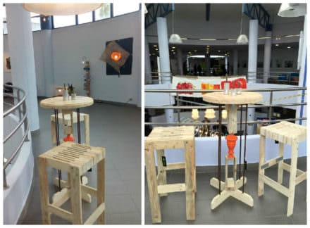 Table Haute Et Deux Tabourets / Pallet Bar Table & Two Bar Stools