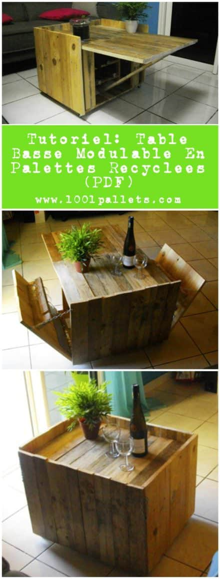 Pallet tutorials page 2 of 3 diy wood pallet projects ideas 1001 - Table ronde modulable ...