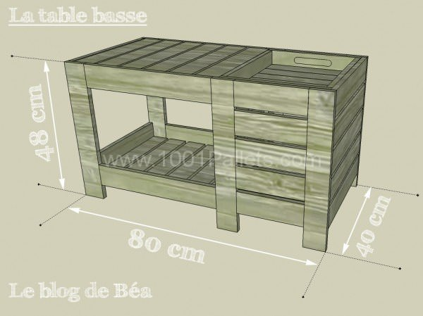 Special coffee table with box table basse avec coffre de - Table de bar avec rangement ...